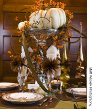 Modern fall table decor