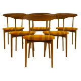 Set of Six Teak Dining Chairs, Denmark 1955