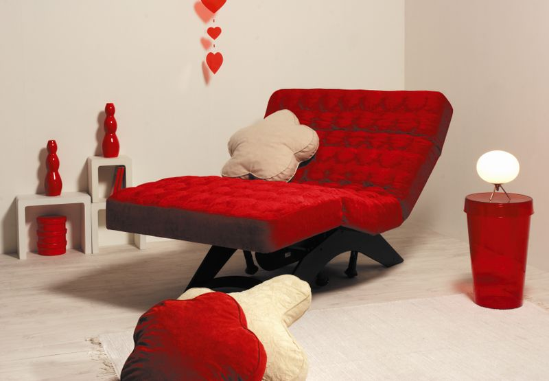 Red lounger