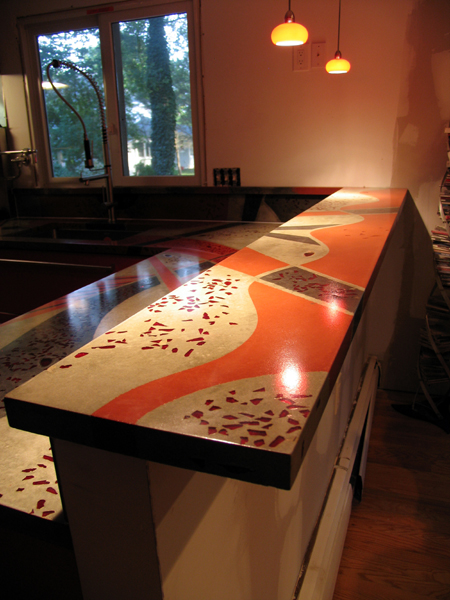 protective lacquer coating Kitchen countertop