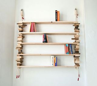 Green-eco-friendly-wood-wall-shelf-bookshelf