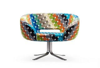 Modern-chair-red-brown-blue