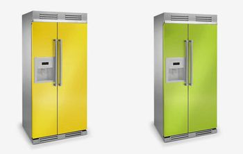 Yellow-refrigerator
