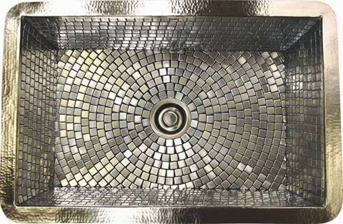 Linkasinku0027s Popular Copper Farmhouse Kitchen Sinks Have Been Redesigned In  A Stainless Steel Mosaic Version. The Sink Is Hand Hammered Copper Which Is  ...